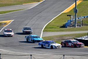 BJ McLeod, Live Fast Motorsports, Ford Mustang, Josh Bilicki, Rick Ware Racing, Ford Mustang, and Cody Ware, Petty Ware Racing, Chevrolet Camaro