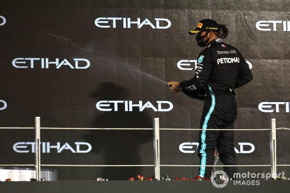 Más podios (165): Lewis Hamilton, Mercedes-AMG F1 (GP de Abu Dhabi)