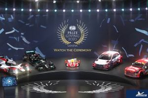 FIA Prize Giving ceremony cars line-up