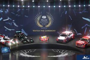 Les monoplaces lors de la cérémonie de remise des prix FIA