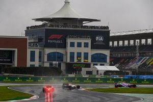 Sergio Perez, Racing Point RP20, Antonio Giovinazzi, Alfa Romeo Racing C39, and Esteban Ocon, Renault F1 Team R.S.20