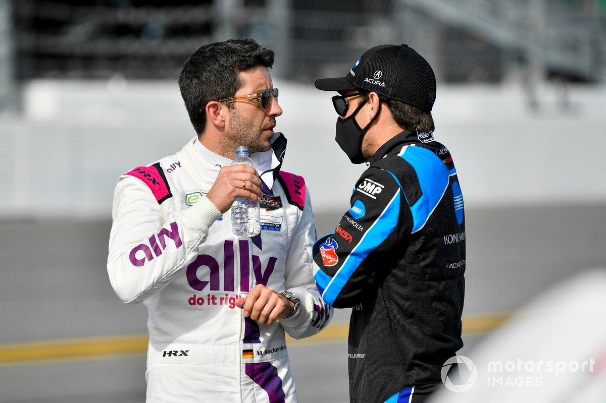 #48 Action Express Racing Cadillac DPi: Mike Rockenfeller, #10: Konica Minolta Acura ARX-05 Acura DPi, DPi: Filipe Albuquerque
