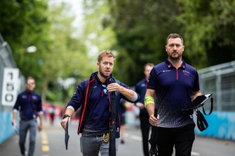 Sam Bird, Envision Virgin Racing, loopt een rondje over het circuit