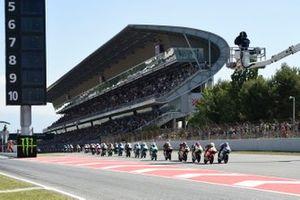 Start zum Moto3-Rennen 2019 in Barcelona