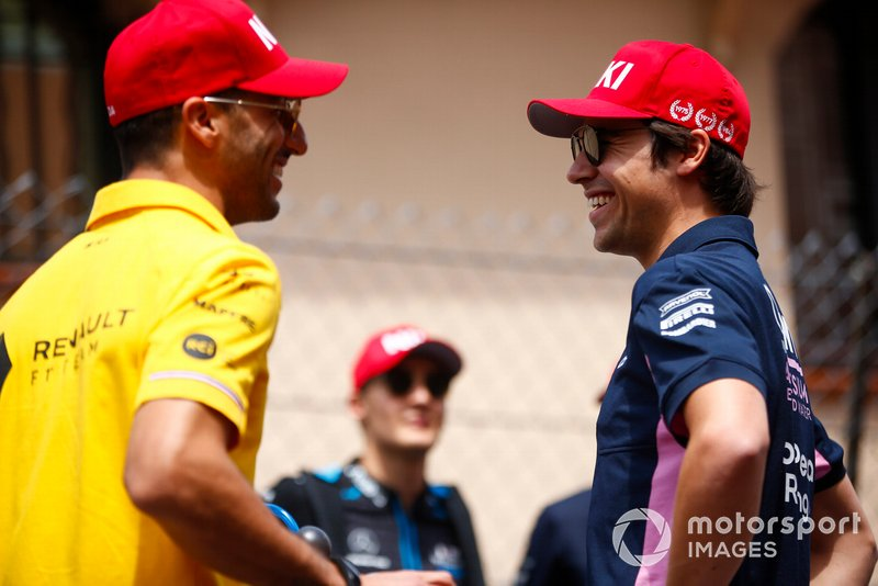 Daniel Ricciardo, Renault F1 Team, ve Lance Stroll, Racing Point