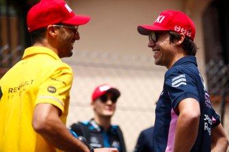 Daniel Ricciardo, Renault F1 Team, with Lance Stroll, Racing Point