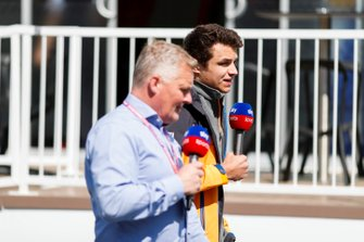 Johnny Herbert, Sky TV and Lando Norris, McLaren