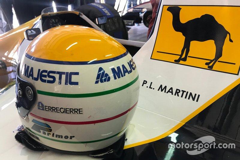 Pier Luigi Martini's helmet