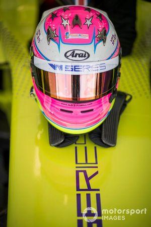 The helmet of Alice Powell