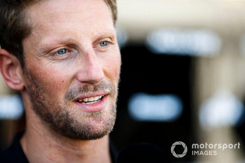 Romain Grosjean, Haas F1 talks to the media