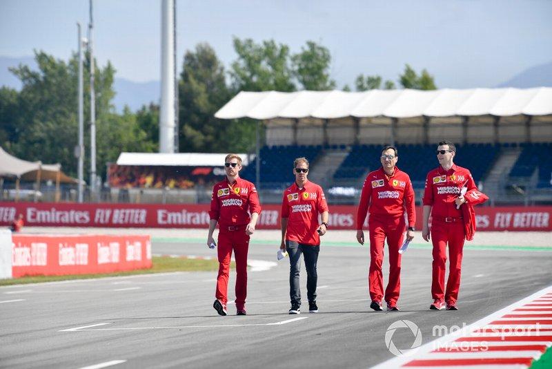 Sebastian Vettel, Ferrari fait un trackwalk