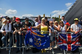 Fans of Daniel Ricciardo, Renault inn the Fan Zone