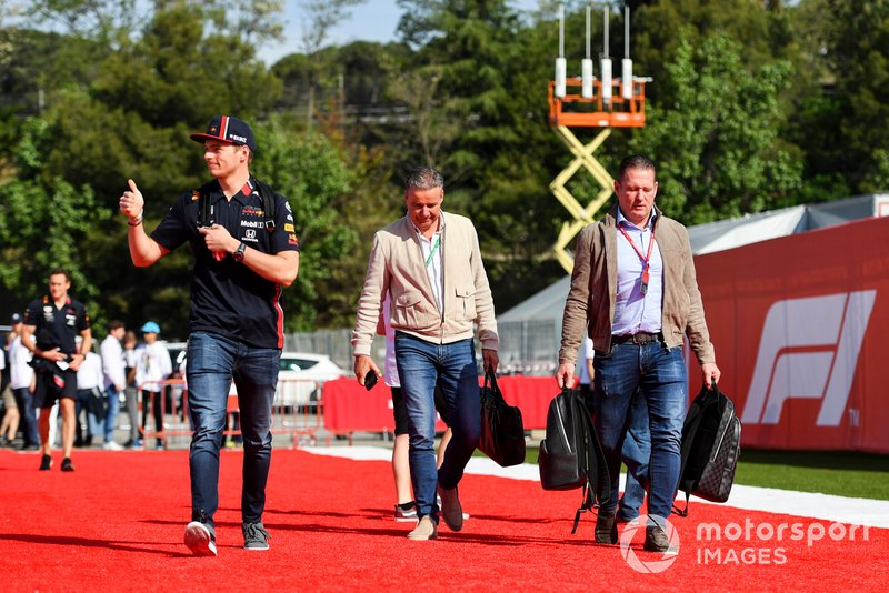 Max Verstappen, Red Bull Racing and Jos Verstappen