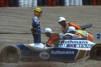 Crash: Ayrton Senna, Williams FW16