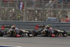 Romain Grosjean, Kimi Raikkoen, Lotus F1 Team