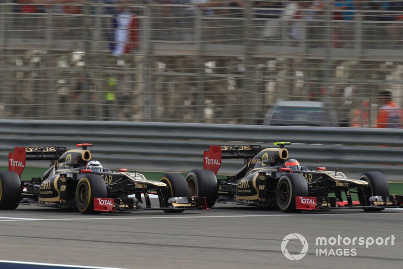 Romain Grosjean, Kimi Raikkoen, Lotus F1 Team