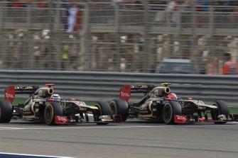 Romain Grosjean, Kimi Räikkönen, Lotus F1 Team