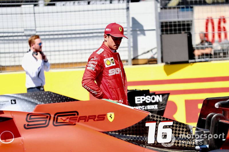 Charles Leclerc, Ferrari, after Qualifying