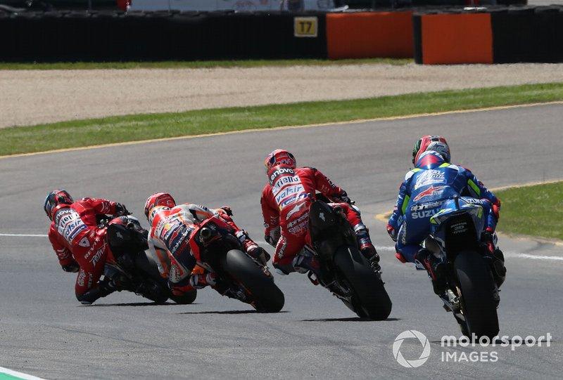 Danilo Petrucci, Ducati Team precede Marc Marquez, Repsol Honda Team
