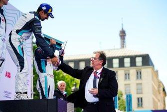 Ahmed Bin Khanen, Saudi Racing, 1st position, celebrates on the podium