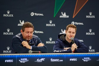 Gérard Neveu, CEO FIA WEC and Stoffel Vandoorne press conference