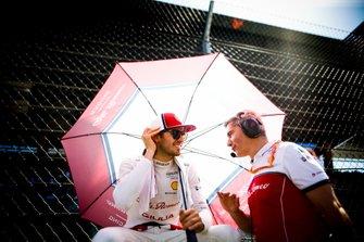 Antonio Giovinazzi, Alfa Romeo Racing sulla griglia