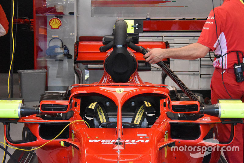 Ferrari engine cooling technical detail