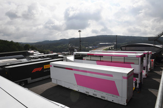 Racing Point Force India F1 Team trucks