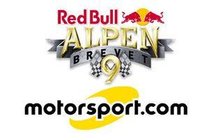 Collaboration between Red Bull Alpenbrevet and Motorsport.com Switzerland, logo