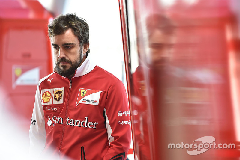 Fernando Alonso in de Grand Prix van Spanje