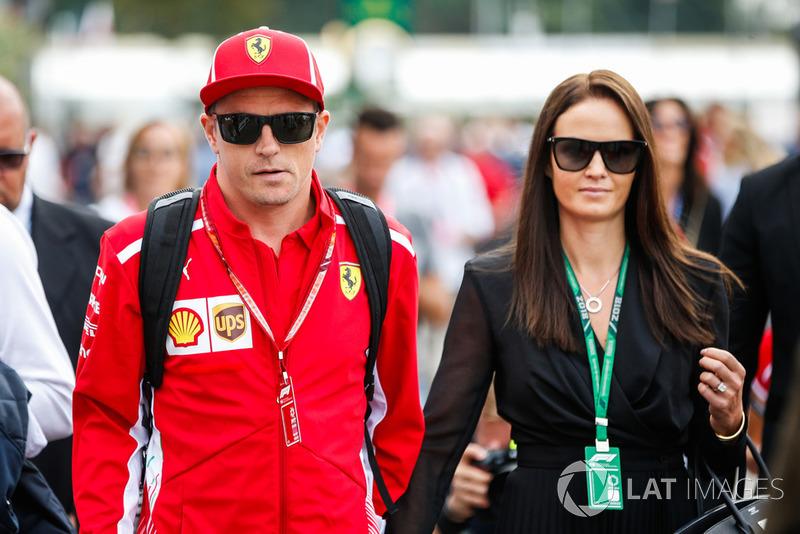 Kimi Raikkonen, Ferrari, bersama istrinya Minttu Virtanen