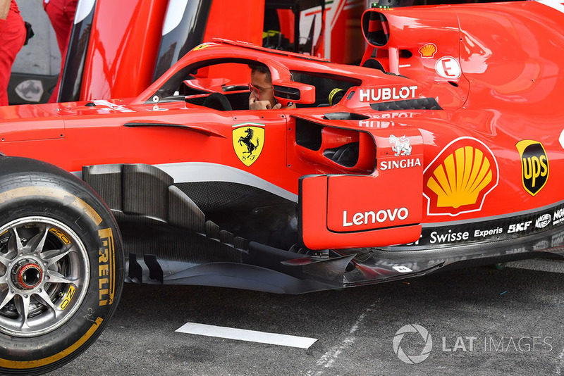 Un déflecteur de Ferrari SF71H