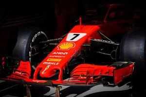Ferrari SF71H of Kimi Raikkonen, detalle del ala frontal