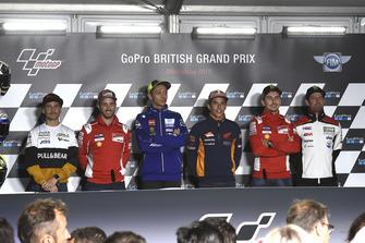 Alvaro Bautista, Angel Nieto Team, Andrea Dovizioso, Ducati Team, Valentino Rossi, Yamaha Factory Racing, Marc Marquez, Repsol Honda Team, Jorge Lorenzo, Ducati Team, Cal Crutchlow, Team LCR Honda