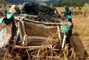 Triton RS destruída após capotamento no Rally dos sertões 2018