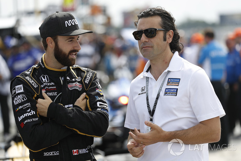 James Hinchcliffe, Schmidt Peterson Motorsports Honda, Dario Franchitti