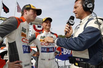 #54 CORE autosport ORECA LMP2, P - Jon Bennett, Colin Braun, podio, intervistatore fox