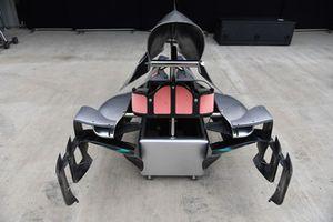 Vue détaillée de pièces de carrosserie Mercedes-AMG F1 W09