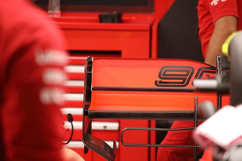 Ferrari SF90, detail achtervleugel