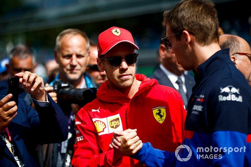 Sebastian Vettel, Ferrari e Daniil Kvyat, Toro Rosso