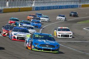 Ryan Blaney, Team Penske, Ford Mustang PPG, Ryan Preece, JTG Daugherty Racing, Chevrolet Camaro Kroger