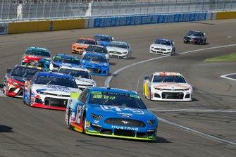 Ryan Blaney, Team Penske, Ford Mustang PPG and Ryan Preece, JTG Daugherty Racing, Chevrolet Camaro Kroger