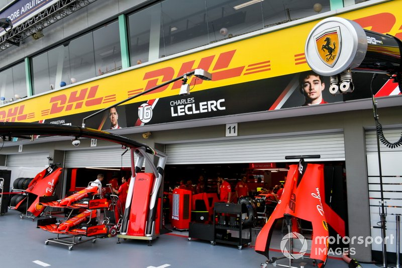 Garage of Ferrari[