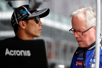 Takuma Sato, Rahal Letterman Lanigan Racing Honda, mit Eddie Jones