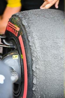 A worn tyre