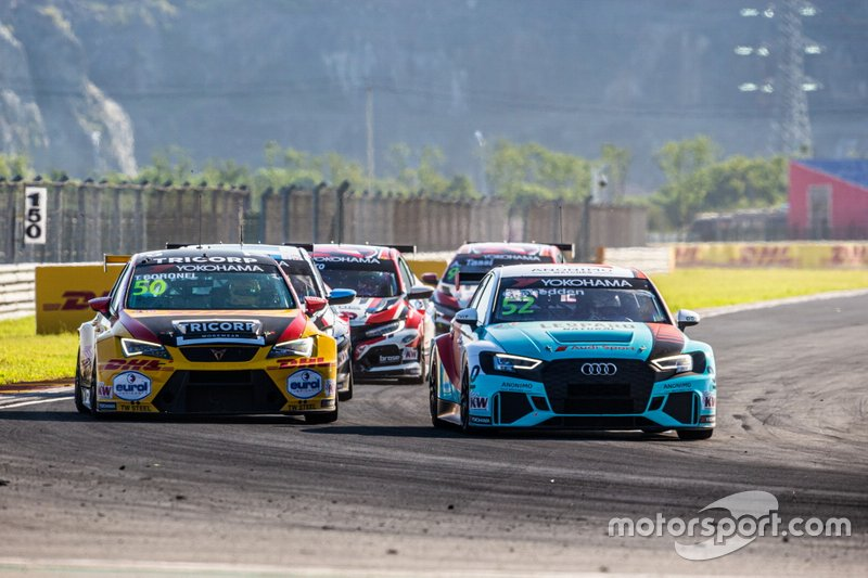 Tom Coronel, Comtoyou DHL Team CUPRA Racing CUPRA TCR, Gordon Shedden, Leopard Racing Team Audi Sport Audi RS 3 LMS