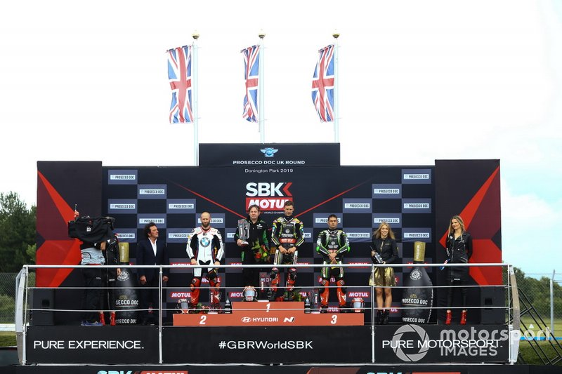 Tom Sykes, BMW Motorrad WorldSBK Team, Johnathan Jonathan Rea, Kawasaki Racing Team, Leon Haslam, Kawasaki Racing Team