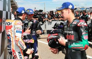 Marc Márquez, Repsol Honda Team, Maverick Viñales, Yamaha Factory Racing, Franco Morbidelli, Petronas Yamaha SRT, Moto2