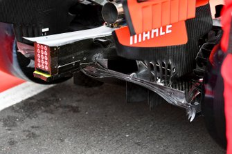 Rear Diffuser of Ferrari SF90