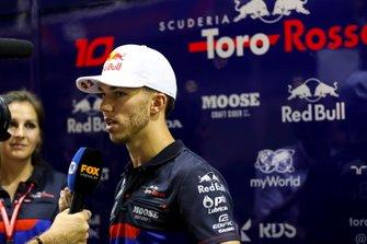 Pierre Gasly, Toro Rosso speaks to the media